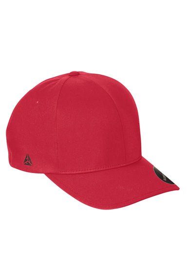 Flexfit YP180 Mens Moisture Wicking Stretch Fit Hat Red Front