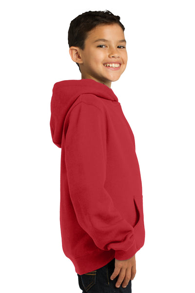 Sport-Tek YST254 Youth Fleece Hooded Sweatshirt Hoodie Red Side