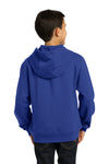 Sport-Tek YST254 Youth Fleece Hooded Sweatshirt Hoodie Royal Blue Back