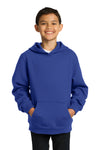 Sport-Tek YST254 Youth Fleece Hooded Sweatshirt Hoodie Royal Blue Front