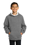 Sport-Tek YST254 Youth Fleece Hooded Sweatshirt Hoodie Heather Vintage Grey Front