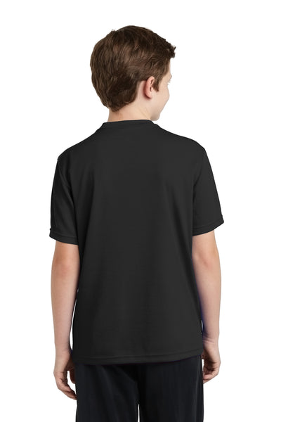 Sport-Tek YST340 Youth RacerMesh Moisture Wicking Short Sleeve Crewneck T-Shirt Black Back