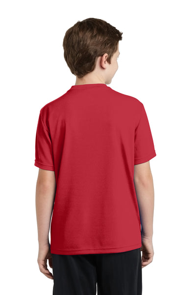 Sport-Tek YST340 Youth RacerMesh Moisture Wicking Short Sleeve Crewneck T-Shirt Red Back