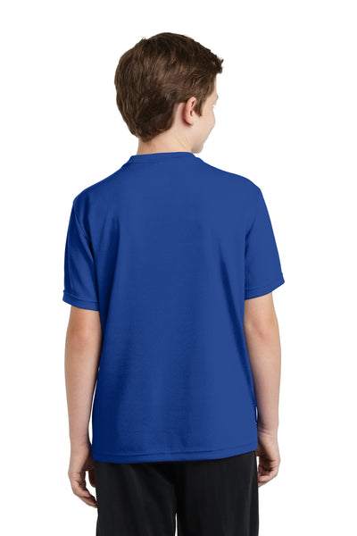 Sport-Tek YST340 Youth RacerMesh Moisture Wicking Short Sleeve Crewneck T-Shirt Royal Blue Back