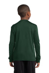 Sport-Tek YST350LS Youth Competitor Moisture Wicking Long Sleeve Crewneck T-Shirt Forest Green Back