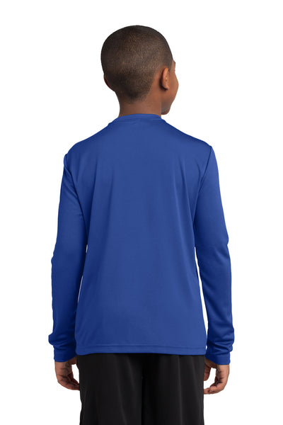 Sport-Tek YST350LS Youth Competitor Moisture Wicking Long Sleeve Crewneck T-Shirt Royal Blue Back