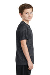Sport-Tek YST370 Youth CamoHex Moisture Wicking Short Sleeve Crewneck T-Shirt Iron Grey Side