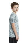 Sport-Tek YST370 Youth CamoHex Moisture Wicking Short Sleeve Crewneck T-Shirt White Side
