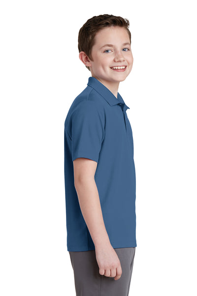 Sport-Tek YST640 Youth RacerMesh Moisture Wicking Short Sleeve Polo Shirt Dawn Blue Side
