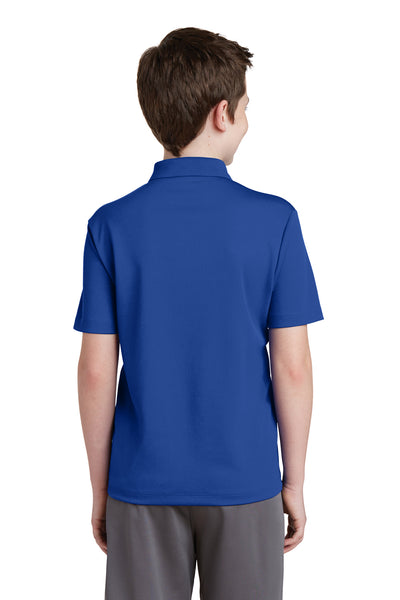 Sport-Tek YST640 Youth RacerMesh Moisture Wicking Short Sleeve Polo Shirt Royal Blue Back