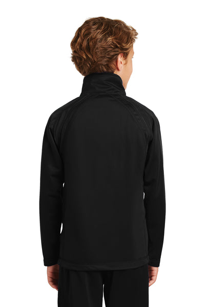 Sport-Tek YST90 Youth Full Zip Track Jacket Black Back