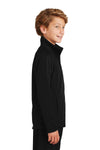 Sport-Tek YST90 Youth Full Zip Track Jacket Black Side