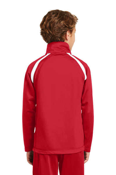 Sport-Tek YST90 Youth Full Zip Track Jacket Red Back