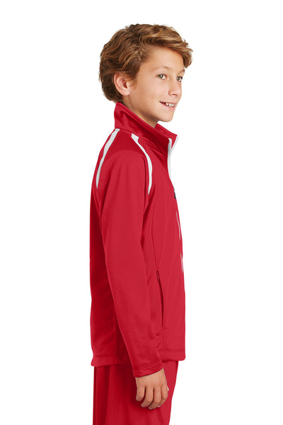 Sport-Tek YST90 Youth Full Zip Track Jacket Red Side