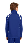 Sport-Tek YST90 Youth Full Zip Track Jacket Royal Blue Back