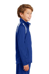 Sport-Tek YST90 Youth Full Zip Track Jacket Royal Blue Side