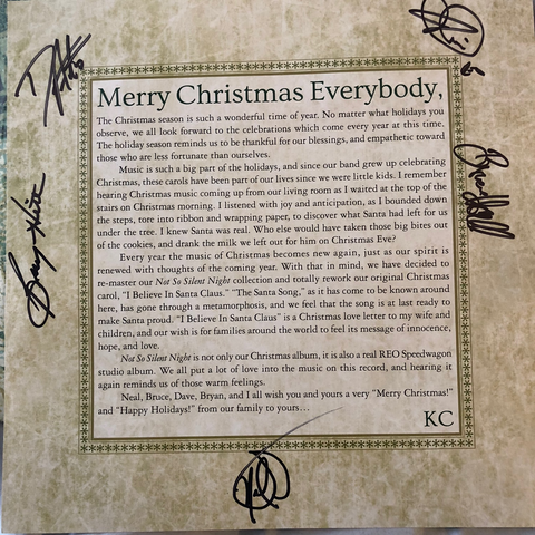 SIGNED COPY!! Not So Silent Vinyl Album and Ladies Christmas Tee Bundle Deal!!