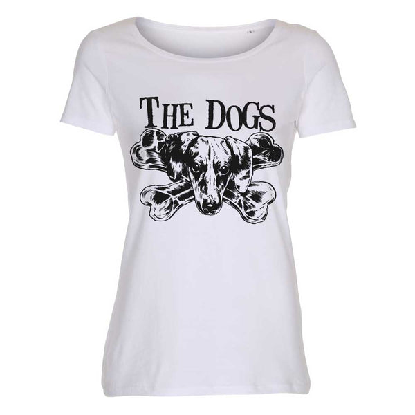 The Dogs - t-skjorte - Logo - Ladies (Black/White)