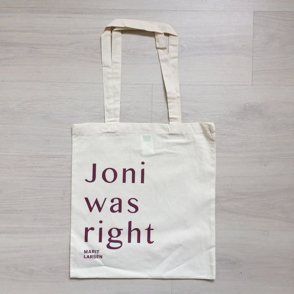 Marit Larsen: Tote bag - JONI WAS RIGHT / ML
