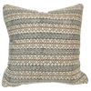 Awahnee Stripe Pillow - Espresso Linen Pillow