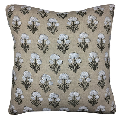 Laurette Pillow - Chalk / Cement Linen