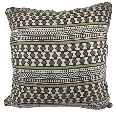 Sujan Stripe Pillow - Espresso Linen