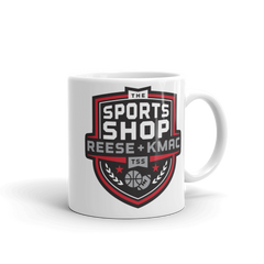 The Sports Shop Radio Logo White 11 oz mug