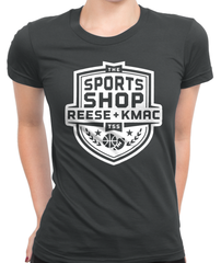 The Sports Shop Radio White Logo T-Shirt Womens Fitted Tee