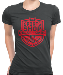 The Sports Shop Radio Red Logo T-Shirt Womens Fitted Tee