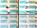 Blue Sentences & Objects Sets - M&M Montessori Materials  - 2