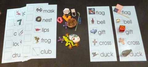Blue Word Lists with Objects - M&M Montessori Materials  - 1