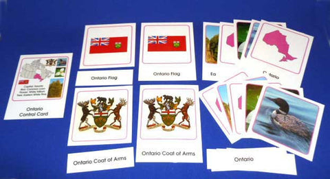 Canadian Provinces and Territories Classification Cards Sets - M&M Montessori Materials