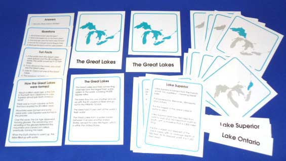 Great Lakes Classified Cards - M&M Montessori Materials