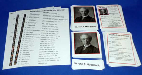 Canadian Prime Ministers - M&M Montessori Materials