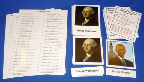 US Presidents - M&M Montessori Materials