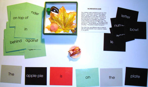 Preposition Box - M&M Montessori Materials