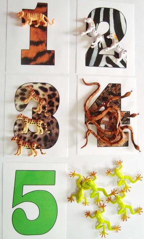 Wild Animal Counting - M&M Montessori Materials
