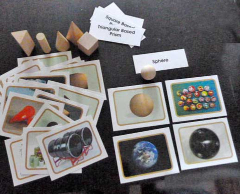 Geometric Solids - M&M Montessori Materials  - 1