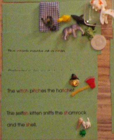 Phonogram Sentences & Objects - M&M Montessori Materials  - 2