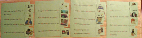Phonogram Sentences & Pictures Sets - M&M Montessori Materials  - 2