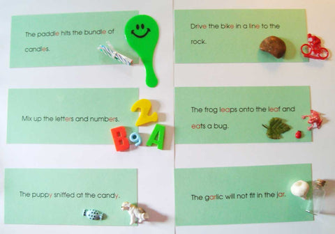 Phonogram Sentences & Objects - M&M Montessori Materials  - 1