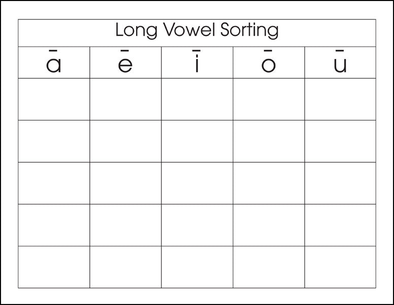 Long Vowel Sorting - M&M Montessori Materials