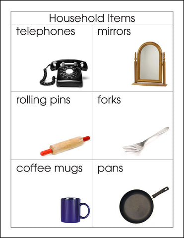 Household Items - M&M Montessori Materials