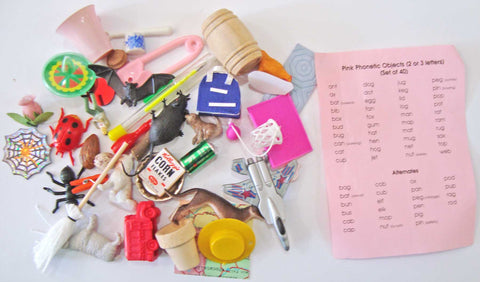 40 Pink Level Objects - M&M Montessori Materials
