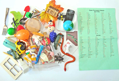 85 Phonogram Objects - M&M Montessori Materials