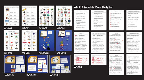 Word Study Set - Complete - M&M Montessori Materials