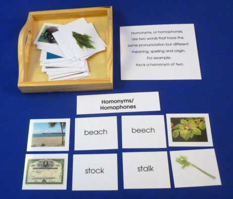 Homonyms - M&M Montessori Materials