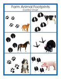 Animal Prints Cards - M&M Montessori Materials  - 1