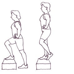 Step-Ups     Exercises to prevent leakage while being active