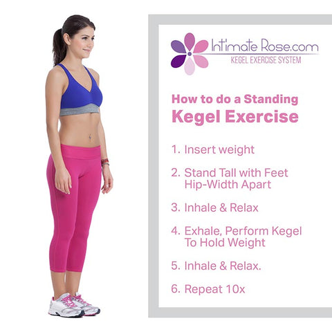 How to do a standing kegel exercise